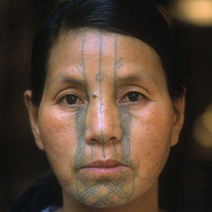 Ta'kong, a Yonkon Naga woman of Hkampti town, Myanmar. Photo: © Lars Krutak 2014 #LarsKrutak #tattoohistory #tattooculture #tattooanthropologist