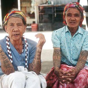 Two Bontok women, Mountain Province, Philippines. Photo: © Lars Krutak #LarsKrutak #tattoohistory #tattooculture #tattooanthropologist