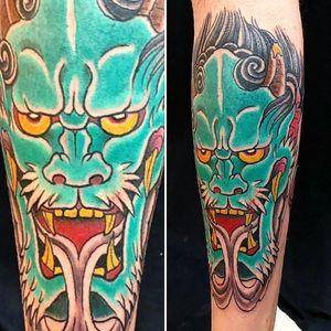 #orientaltattoo #oni #oriental #DemonHead #demon