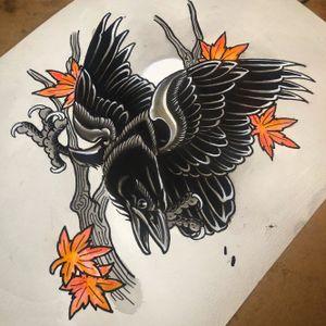 #crow illistration