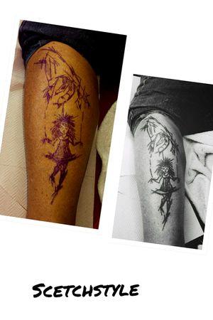 #sketch #puppe #marionatte##bein #frau #inkgirl #inked #tattooedwoman #tattooedgirl #tattooed #tattoist #inkgirl #follow #followforfollow #blackgrey #artist #dreamtattoo #mindblowing #mone1971#follower #hellotattoomed#suprasorb #germantattooers