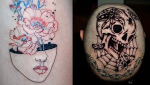 Tattoo on the left by Tattooist Dahh and tattoo on the right by Tony Torvis #TattooistDahh #TonyTorvis #besttattoos #best