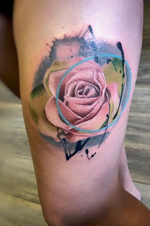 Colour rose #rosetattoo #abstract #colour #realism #tattooartist #girlswithtattoos