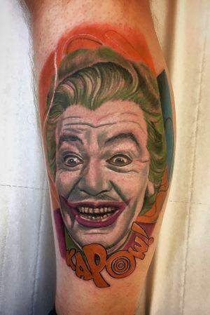 The best joker! #Joker #tattooartist #colour #portrait #realism #batman #sleeve