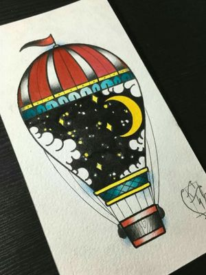 #airballoon #traditionaltattoos #traditionaltattoo #colortattoo #sketchtattoo #sketches #tattoodoo #TraditionalArtists #traditionalflash