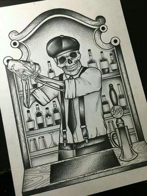 #skeletontattoo #skeleton #traditionaltattoos #traditionaltattoo #blackandgrey #blacktatoo #sketch #sketchtattoo