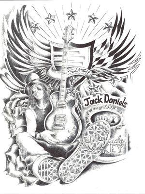 #Slash #jackdaniels #Tattoo