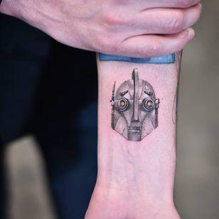 Tattoo by Dragon Art NYC #DragonArtnyc #robottattoos #cyborgtattoos #robot #cyborg #AI #mechanical #machine #theirongiant #disney #cute