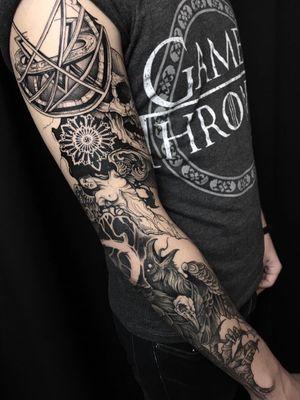 #tattoo#dark#blackwork#lineart#tkach#darkartist#blackink