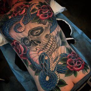 #skull #roses #snake #sandiego #california