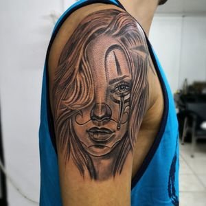 Chicana, black and gray work by DG in Eternaltattoo Cr