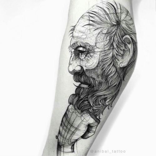 The Thinker . . . . #darkartists #anibal_tattoo #nyctattoos #nyc #tatuadorescolombianos #artcollective