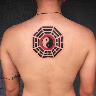Tattoo by Terry Grow #TerryGrow #YinYangtattoos #YinYang #Chinese #symbol #iching
