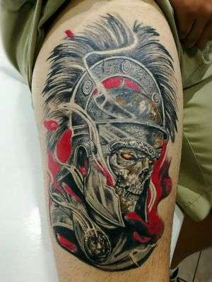 Healed tattoo done by DG in Eternaltattoo Cr