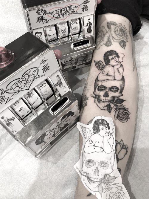Tattoo by Adam Vu Noir #AdamVuNoir #AdamVu #blackandgrey #illustrative #fineline #detailed