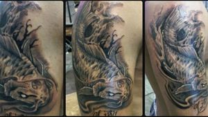 Koi fish tattoo done in 2012 by DG