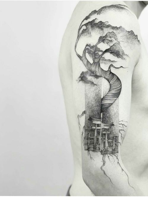 Merit and Master.  .  .  .  #darkartist #fineline #tatuadorescolombianos #nyc #nyctattoos #artcollective #blxink #inkstinctsubmission #tattooartist #tattooart