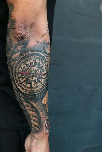 #compass #nauticalsleeve #nauticaltattoos #nautical
