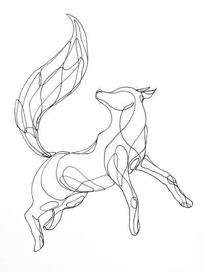 Wolf 🐺 #draw #art #artwork #lineart #simple #oneline #wolf #animal #fox #sexy #blackandwhite #sketch #flash #fun #elegant #minimalist