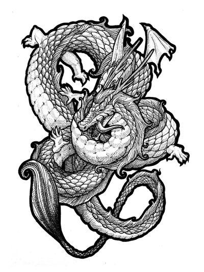Dragon 🐉 #draw #art #artwork #lineart #simple #animal #fantasy #mysticalcreature #mystic #myth #blackandwhite #sketch #flash #fun #elegant #minimalist #black #dragon