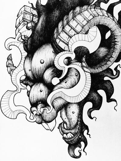 Goat 🐐 #draw #art #artwork #lineart #simple #animal #blackandwhite #sketch #black #goat #mad
