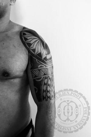 #polynesian #Marquesan #inspired #tattoo #neotribal #blackwork
