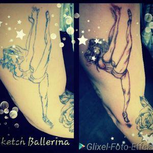 #ballarina #follow #followforfollower #blackandgrey #instatattoo #germantattooer #natur #spitze #spitzenschuh #tanz #kunst #erinnerung #tattoo zum Thema #sketch #germantattooer #tattoodo