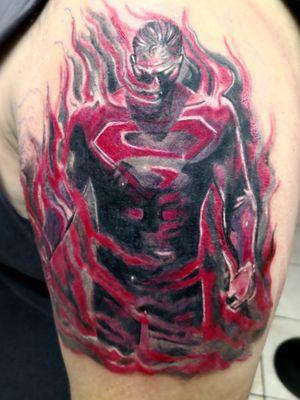 Superman comic, tattoo by DG in Eternaltattoo Cr