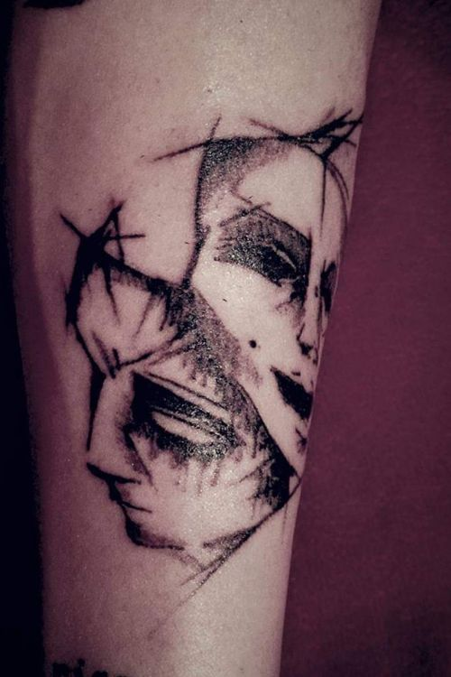 Faces tattoo 2 Two Faces