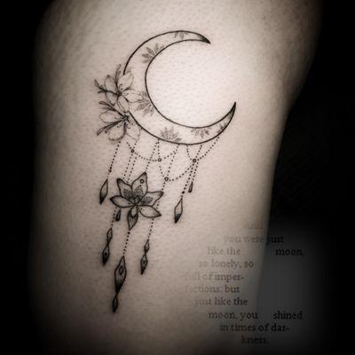 #ornamental #lotus #moon #sacred #jeweltattoo #moontattoo #flowertattoo #finelinetattoo #ornamentaltattoo