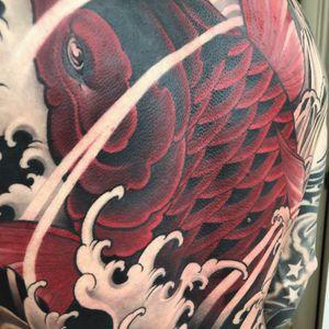 Red koi backpiece:) #tattoodo #inkjecta #wearesorrymom #killerinktattoo