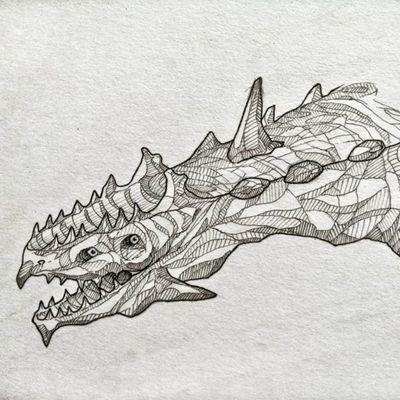 Dragon 🐲 #draw #art #artwork #lineart #simple #animal #fantasy #mysticalcreature #mystic #myth #blackandwhite #sketch #flash #fun #elegant #minimalist #black #dragon