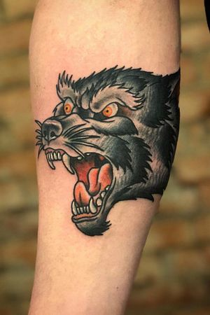 Wolf head #traditional #wolf