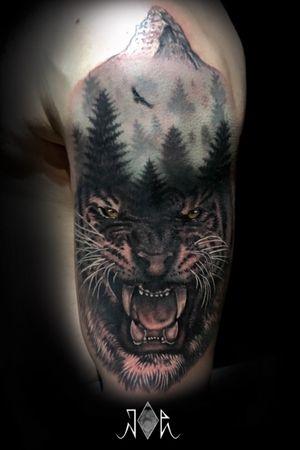 Have a fun to did this Pet piece! #intenztattooink #fusionink #inkjecta #realistictattoo #tigertattoo #jungletattoo