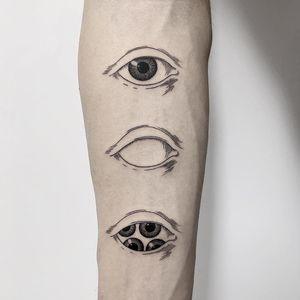 Tattoo by Michele Volpi #MicheleVolpi #besttattoos #best #eyetattoo #eye #illustrative #linework #fineline