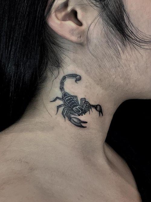 Illegal Tattoos: Juan Diego Prieto #IllegalTattoos #JuanDiego #JuanDiegoPrieto #blackandgrey #fineline #Chicano #scorpion