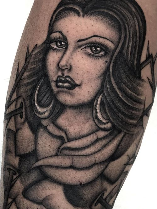 Illegal Tattoos: Juan Diego Prieto #IllegalTattoos #JuanDiego #JuanDiegoPrieto #blackandgrey #fineline #Chicano #portrait #lady #rose #flower #floral