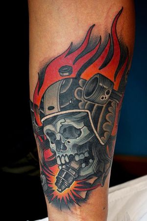 Racing skull by Put@Dazzlingtattoo #tattooer#tattooed #tattooartist #newschool#newschooltattoo #tattoo#tattoos #dazzlingtattoo #dazzlingtattoostudio #dazzlingtattoobyputdzlt #bangkok #bangkoktattoo #bangkoktattooartist #tattoobangkok #thailand #thailandtattoo #thailandtattooartist #tattoothailand #classpen #inkjecta #inkjectanano#asiatattoosupply #asiatattoosupplythailand #burlaktattoorotary#burlaksolo #ร้านสัก#fytcartridges#y520