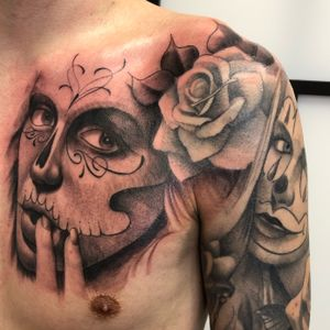 Another exsample of my work #dayofthedead #chesttattoo