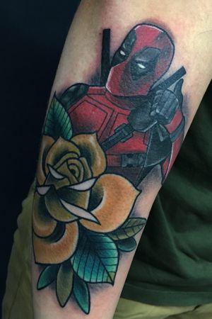 Deadpool 👐🏻 #deadpool #marvel #traditional #neotraditional