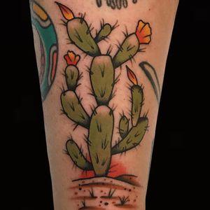 Tattoo by Alex Zampirri #AlexZampirri #cactustattoos #cactus #desert #plant #nature #color #traditional