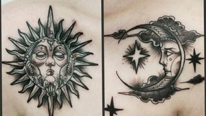 #sunandmoontattoo  #sun  #moon