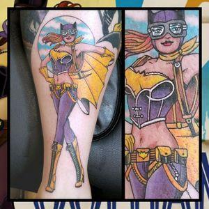 Batgirl... #inkfusion #inkfusionempire #geektattoo #geekedouttattoos #geeksterink #geekytattoos #comicbooktattoo #nerdytattoos #nerdtattoo #nerdtattoos #brightandbold #traditionaltattoo #realtattoos #realtraditional #tattoos #tattooflash #neotraditional #solidtattoo #lasvegastattooer #dccomicstattoo #dccomics #batman #batmantattoo #batgirl #batgirltattoo