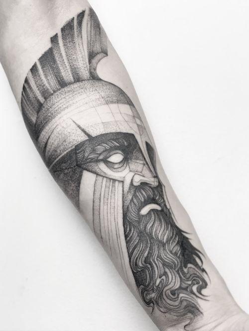 Warrior.  #darkartists #tatuadorescolombianos #tatuadoresbogotanos #tattrx #inkstinctsubmission #tattooinkspiration #ttblackink #art_collective #arts_help #TATTOOTODO #anibal_tattoo #tattooartist #nyc #nyctattoos  #blxink #stabmegod