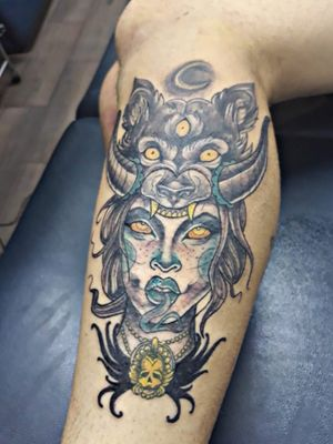 #witch #witchcraft #witchtattoo #wolf #spells #moontattoo #snake #skull #amazingtattoos