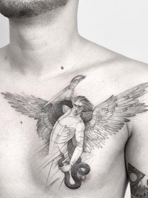Angel. #darkartists #tatuadorescolombianos #tatuadoresbogotanos #tattrx #inkstinctsubmission #tattooinkspiration #ttblackink #art_collective #arts_help #TATTOOTODO #anibal_tattoo #tattooartist #nyc #nyctattoos #blxink #stabmegod