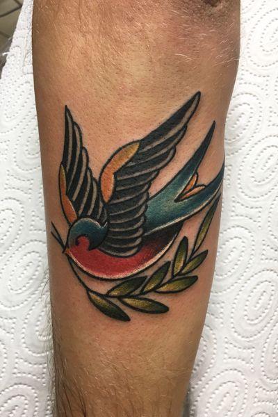 #tattoo #traditional #oldschool #swallow