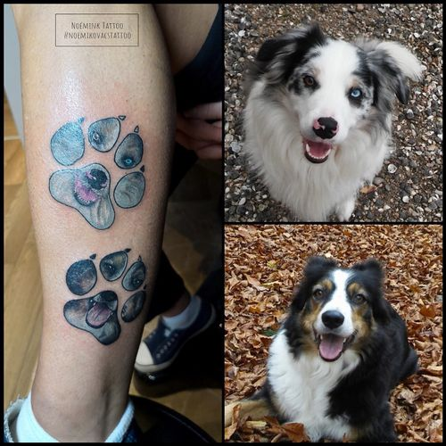 Love of dogs #pawprinttattoo #paw #pawprint #dogtattoo #dog #noemikovacstattoo