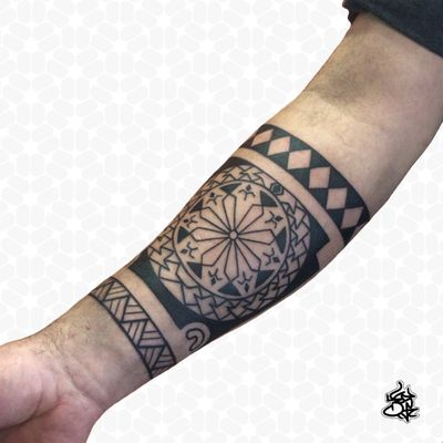 The Sym Tattoo on Instagram - #tribal #tribaltattoo #freehandtattoo #polynesian #polynesiantattoo