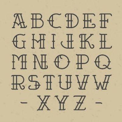 Old school letters. #oldschool#oldschooltattooes #letters